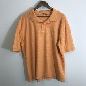 Nautica Classic Pique Orange Polo 3XL 100% Cotton